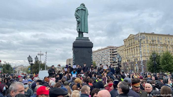 Los manifestantes dudan de los resultados de las elecciones.