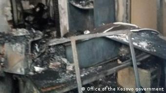Kosovo   Autoregistrierungszentrum im Norden des Kosovo verbrannt