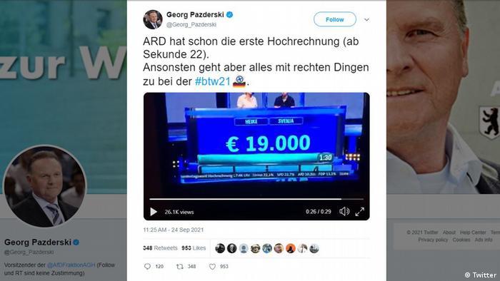 Screenshot of Georg Pazderski's tweet