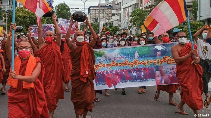 протест буддійських монахів у М'янмі