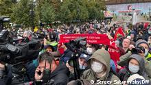25.09.2021, Kundgebung in Moskau gegen Betrug bei der Parlamentswahl.