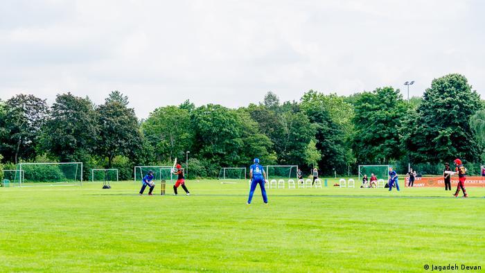 Germany's women playing cricket in Krefeld