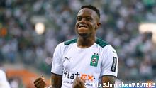 Soccer Football - Bundesliga - Borussia Moenchengladbach v Borussia Dortmund - Borussia-Park, Moenchengladbach, Germany - September 25, 2021 Borussia Moenchengladbach's Denis Zakaria celebrates scoring their first goal REUTERS/Thilo Schmuelgen DFL regulations prohibit any use of photographs as image sequences and/or quasi-video.