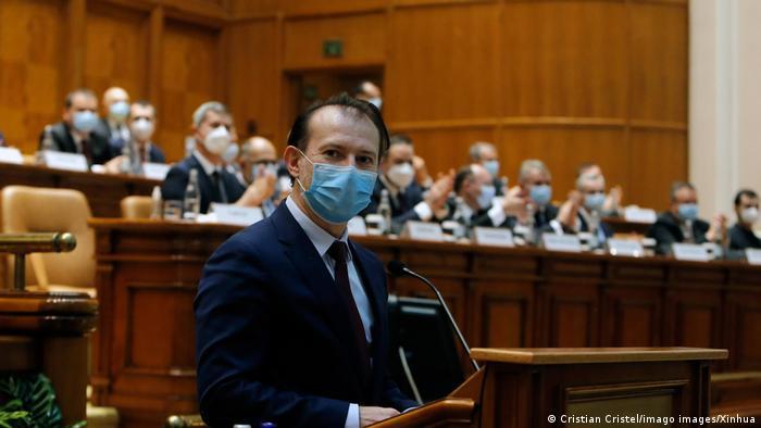 Florin Cîțu după ce a fost învestit (decembrie 2020)