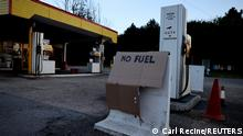 UK Symbolbild Tankstelle ohne Benzin