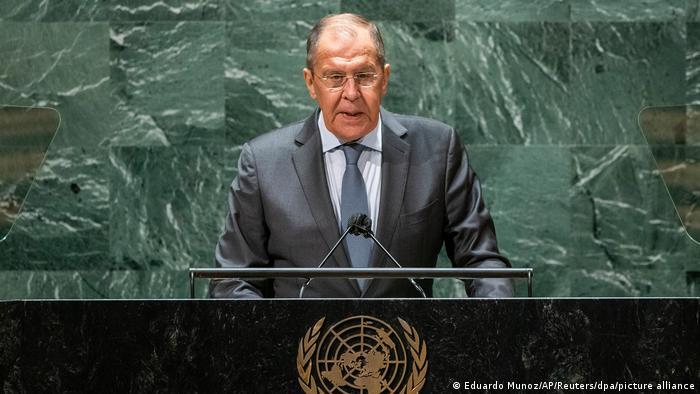 سرگئی لاوروف، وزیر خارجه روسیه در روز ۲۵ سپتامبر در سازمان ملل در نیویورک