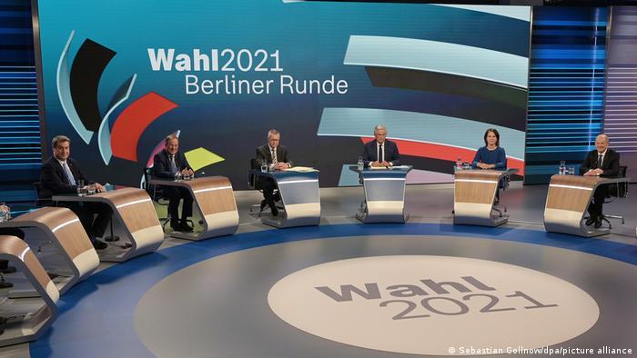 طاولة الحوار التي استضافتها القناة الألمانية الثانية.