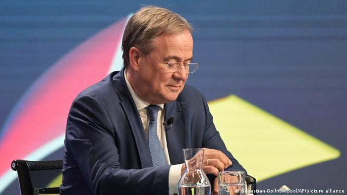 Armin Laschet, Kanzlerkandidat der Unionsparteien, bei der Berliner Runde