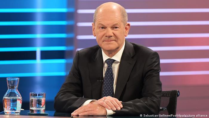 Olaf Scholz, Kanzlerkandidat der SPD, bei der Berliner Runde