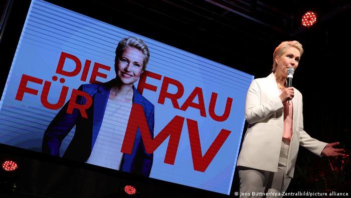 Соціал-демократка Мануела Швезіґ святкує перемогу у Мекленбурзі-Передній Померанії