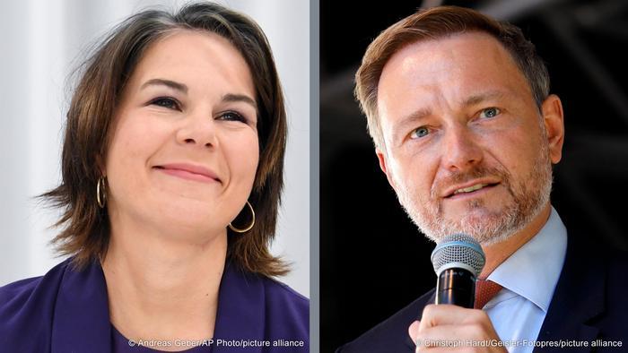 Kombobild Annalena Baerbock und Christian Lindner