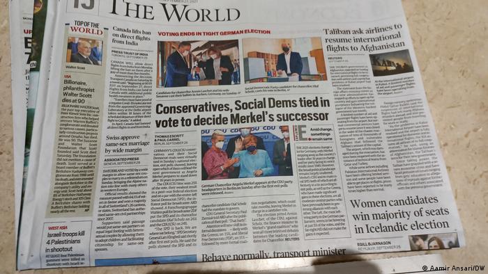 Indien Neu Dehli | Zeitungen zur Wahl in Deutschland