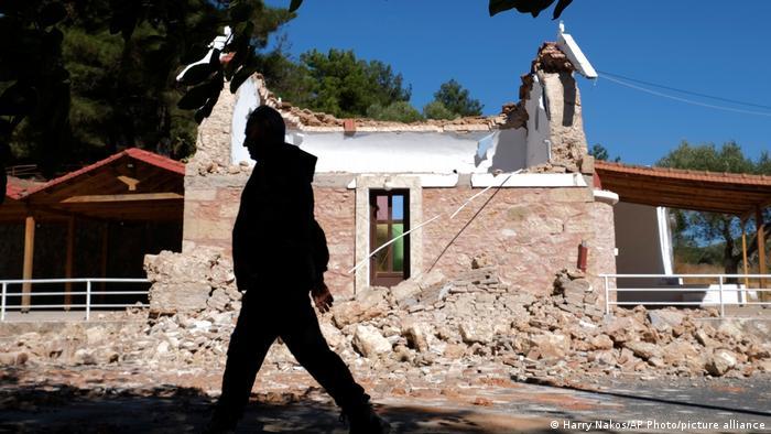 Destrucción, tras el primero de los dos fuertes terremotos que han sacudido a Creta esta semana.
