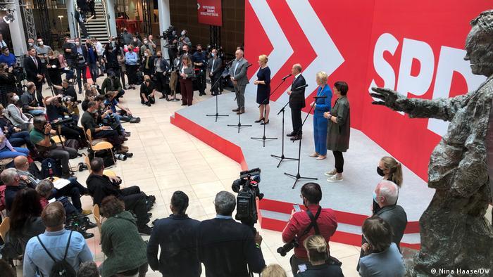 Deutschland Bundestagswahl 2021, SPD feiert die Sieger