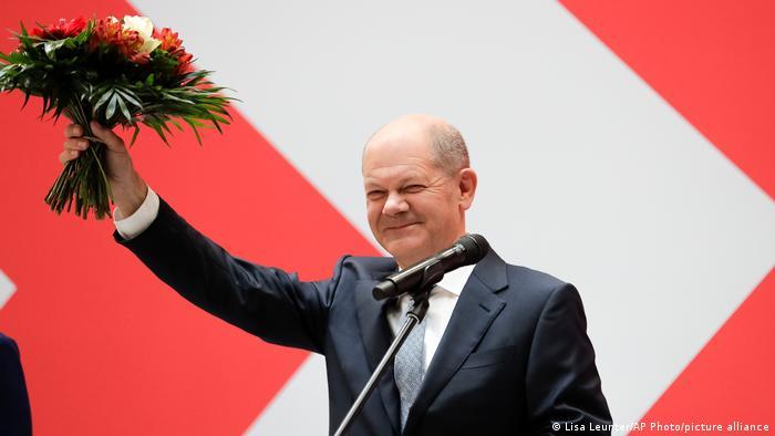 Mgombea ukansela kupitia chama cha SPD Olaf Scholz.