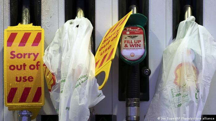 Closed pumps at petrol stations