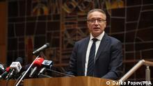 Branko Crvenkovski- ehemaliger Präsident Nordmazedoniens. Skopje, Nordmazedonien 27.09.2021 Rechte: Boris Kunovski/MIA