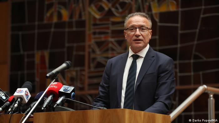 Nordmazedonien Branko Crvenkovski hält Rede in der Akademie der Wissenschaften