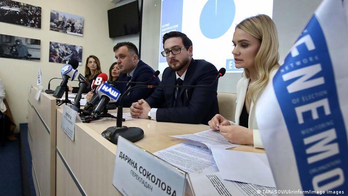 Пресс-конференция ENEMO по президентским выборам в Украине, апрель 2019 г.