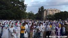 Ethiopian Orthodox Christians mark two-day Meskel in Dire Dawa The Ethiopian Orthodox Tewahedo Church and the Eritrean Orthodox Tewahedo Church designate the holiday of the finding of the cross on September 27 of the Gregorian calendar as meskel. Titel : People gather in celebration of the Meskel Festival in Dire Dawa, Sept. 26, 2021. Ethiopian Orthodox Christians on Sunday marked the two-day Meskel, the finding of the True Cross, celebrations with various religious and cultural activities. Author: Mesay Tekelu Corri DW Dire Dawa