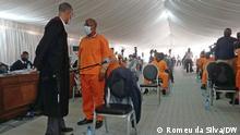 1. Titel: Gregório Leão 2.Bildbeschreibung: Der ehemalige Direktor des Staatlichen Informations- und Sicherheitsdienstes (SISE) in Mosambik Gregório Leão im Prozess um versteckte Schulden 3. Fotograf: Romeu da Silva (DW Korrespondent) 4. Wann wurde das Bild gemacht: 27.09.2021 5.Wo wurde das Bild aufgenommen: Maputo (Mosambik) 6. Schlagwörte: Gregório Leão, versteckten Schulden, Mosambik, Justiz via Maria João Pinto (Portugiesisch fur Afrika)