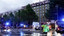 A large explosion has occurred at an apartment building in Annedal in central Gothenburg, Sweden, Sept. 28, 2021. More than 20 people have been taken to hospital. Some of them must be seriously injured. Photo Bjorn Larsson Rosvall / TT / Code 9200