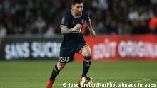 Leo Messi Paris Saint Germain v Olympique Lyonnais