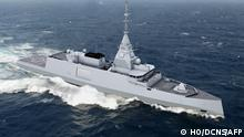 (FILES) This handout image received from French Naval defence and energy group DCNS on October 18, 2016, shows an artists impression of a proposed new-generation 4000-tonne digital frigate called the Belharra. - Greece will buy three frigates from France as part of a deeper strategic partnership between the two countries to defend their shared interests in the Mediterranean, French President said on September 28, 2021, calling Athens' decision to buy the Belharra ships a sign of confidence in France's defence industry, against competition notably from the American group Lockheed Martin, according to press reports. (Photo by HO / DCNS / AFP) / RESTRICTED TO EDITORIAL USE - MANDATORY CREDIT AFP PHOTO / DCNS - NO MARKETING NO ADVERTISING CAMPAIGNS - DISTRIBUTED AS A SERVICE TO CLIENTS