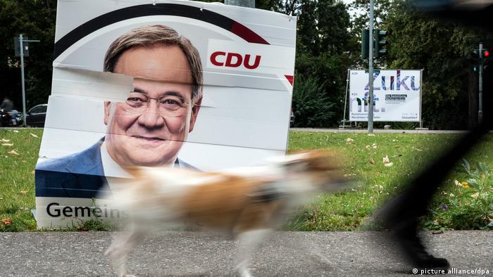 Nach der Bundestagswahl - Wahlplakat vom Armin Laschet