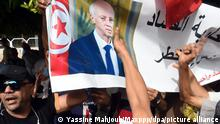 ©Yassine Mahjoub/MAXPPP - Several hundred people, supporters of President Kais Saied, descended on Avenue Habib Bourguiba chanting slogans against the Islamic party of Ennahdha.photo: Yassine Mahjoub TUNISIE - TUNIS