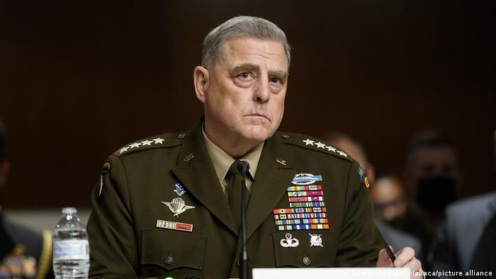 US Chairman of the Joint Chiefs of Staff General Mark Milley testified before the Senate armed services committee Tuesday