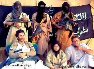 Spanish aid workers Roque Pascual, Albert Vilalta and Alicia Gamez, held hostage by Al Qaeda in the Islamic Maghreb