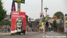 Wahlplakat Anna Kassautzki (SPD) Anna Kassautzki, Direktkandidatin, SPD, Bundestagswahl, Rügen, Vorpommern-Rügen, Vorpommern-Greifswald (C) Theresa Tropper/DW