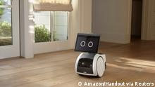A roving, canine-like household robot called Astro is seen in an undated photograph provided by Amazon September 28, 2021. Amazon/Handout via REUTERS. NO RESALES. NO ARCHIVES. THIS IMAGE HAS BEEN SUPPLIED BY A THIRD PARTY.