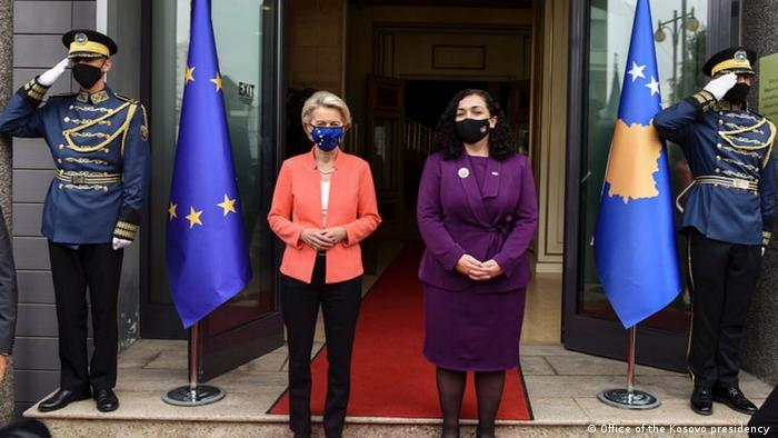 Kosovo EU Ursula von der Leyen Vjosa Osmani