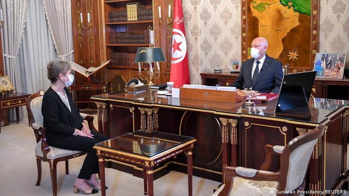 Tunesien Tunis Präsident Kais Saied und neue Premierministerin Nejla Bouden Romdhane
