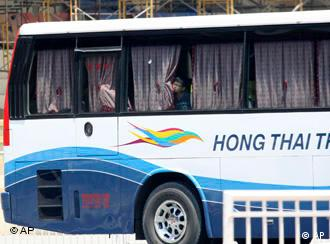 The bus was carrying tourists from Hong Kong