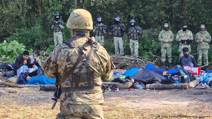 Polen I Afghanische Flüchtlinge an der polnisch-belarussischen Grenze gestrandet
