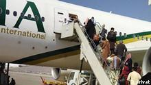 Die Maschine der Pakistan International Airlines, die am Samstag (25.9.) von Kabul nach Islamabad geflogen ist, an Bord über 100 LGBTIQ-Personen.