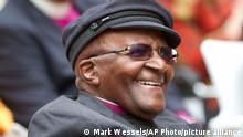 South African Archbishop Desmond Tutu smiles
