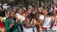 Gobe and Shinoye traditional youth dance in Addis Ababa Oromia Cultural Center Photo: Seyoum Getu/DW, Addis Ababa