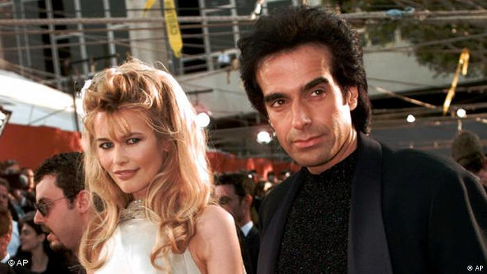 Claudia Schiffer and David Copperfield (AP)