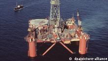 Die BP-Bohrplattform Sea Conquest in der Nordsee östlich der Shetland-Inseln. (Undatierte Aufnahme). +++(c) dpa - Report+++