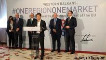 Open Balkan Gipfel. Foto: Sanja Kljajic/DW 30.9.2021