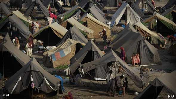 Conditions are poor at this refugee camp run by the Pakistani army in Sukkar, Sindh province