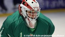 29/09/2021*** TEHRAN, IRAN - SEPTEMBER 29: Players of Iranian National Women Ice Hockey Team which was found a year ago, attend a training session as they get prepared for 2022 Asia Cup to be held in Philippines, in Tehran, Iran on September 29, 2021. Fatemeh Bahrami / Anadolu Agency