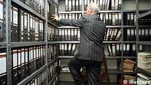 Büroangestellter in Archiv