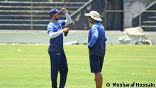Bangladeshi footballer and their coach