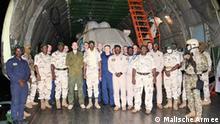 Mali, 30 September 2021, russischer Hubschraber von der malischen Armee.