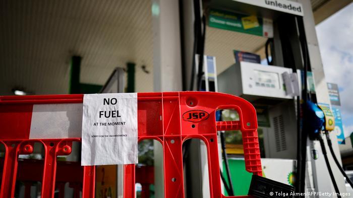 London | Tankstellen | Treibstoffkrise